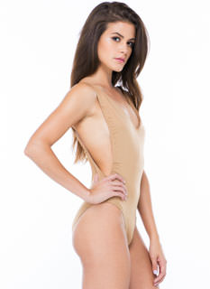 Back Off V-Neck Muscle Bodysuit