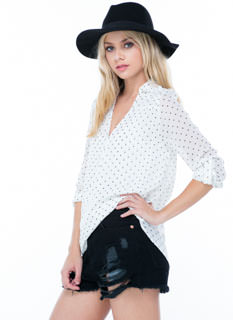 Do The Polka Dot Surplice Blouse