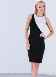 Circle The Colorblock Bodycon Dress