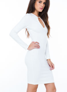 Keyhole Accent Bodycon Dress