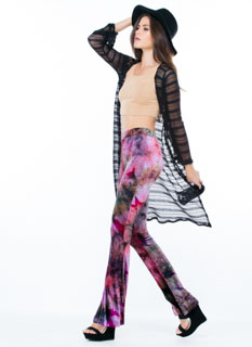 Rad Velvet Tie-Dye Bell-Bottom Pants