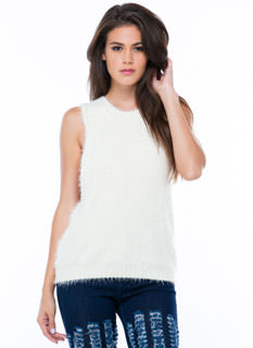 Warm And Fuzzy Knit Muscle Tank