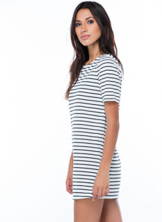 Get Shifty Striped Sweater Dress