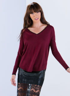 Classic Collegiate V-Neck Sweater