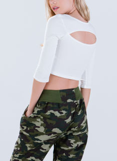 Got Your Back Cut-Out Cropped Top