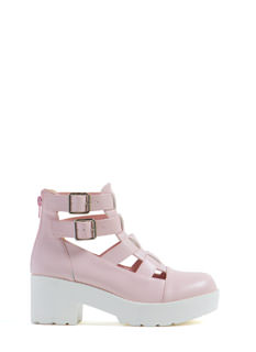 Funky Chunky Strappy Bootie Sandals