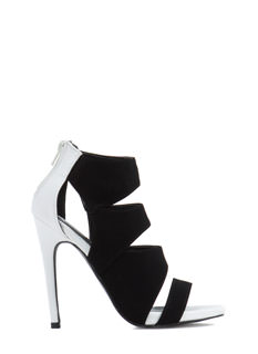 Four Squared Away Strappy Heels