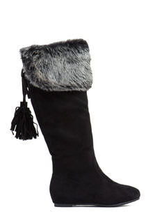 Fringy Feeling Faux Suede Boots
