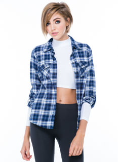 Plaid On The Back Flannel Shirt