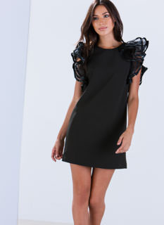 Ruffle Up Shift Dress