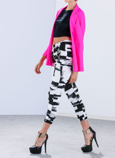 Brush It Off Paint Print Joggers