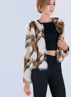 Patch Made In Heaven Faux Fur Jacket