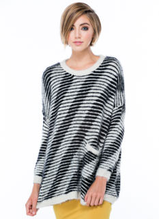Fuzz Worthy Striped Sweater