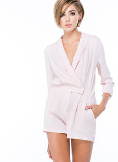 Too Fresh Collared V-Neck Romper