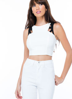 Cut-Out 'N Print Crop Top