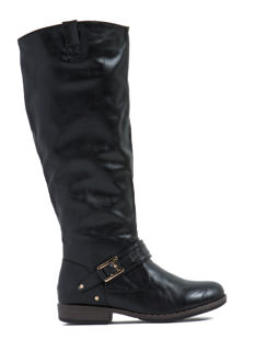 Just Be Square Buckled Strap Boots