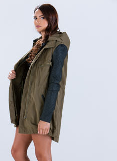 G.I. Jane Mixed Media Jacket