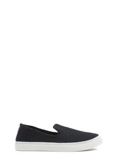 Checked Mate Woven Slip-On Sneakers