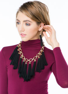 Tassel Tactics Chain Necklace Set