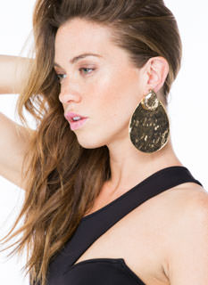 Drop It Hammered Backdrop Earrings