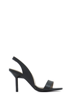 On The Daily Faux Leather Heels