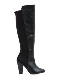 Give In Faux Leather Boots