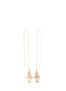 Hand It Over Hamsa Threader Earrings