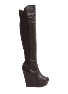 Sleek 'N Chic Wedge Boots