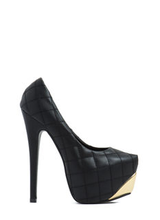 Quilty Verdict Metallic Accent Heels