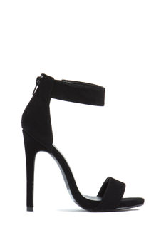 Double Up Strappy Faux Nubuck Heels