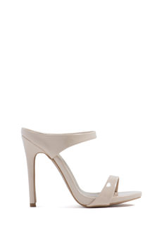 Low Riders Strappy Faux Patent Heels