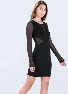 Meshin' Impossible Bodycon Dress