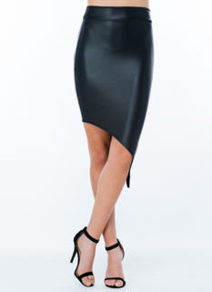 Sleek For Itself Asymmetrical Skirt