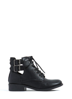 Stomp The Town Lace-Up Booties