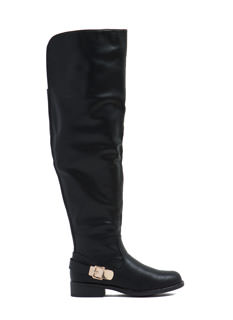 Chic Rider Faux Leather Boots