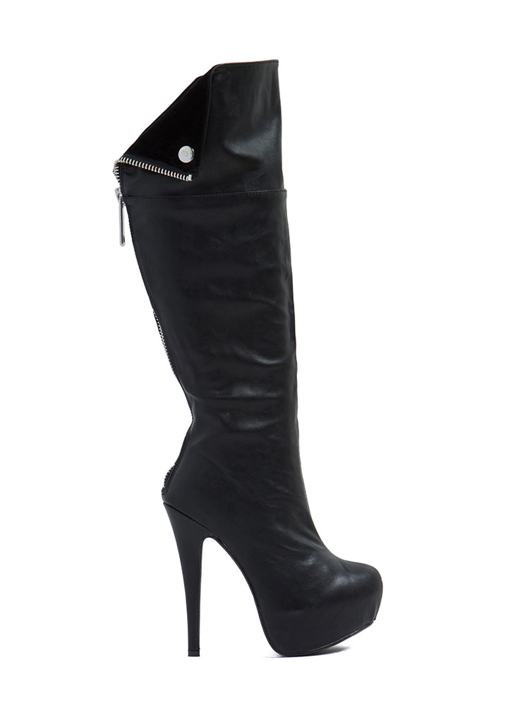 Just Zip Out Faux Leather Boots