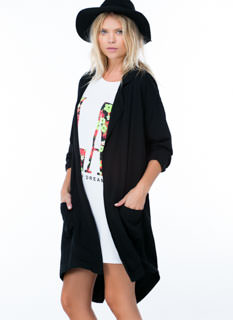 Go The Long Way Open Duster Jacket