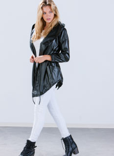 Stay Slick Faux Leather Jacket