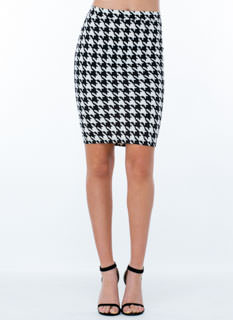 Check It Out Houndstooth Skirt
