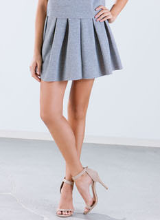 Pretty Pleats Contrast Skirt