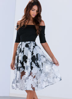 Garden Blooms Organza Dress