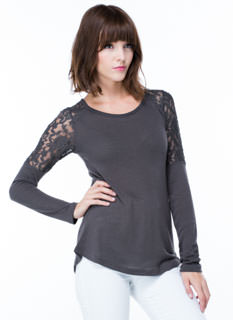 Show Your Stuff Lace Shoulder Top