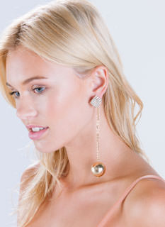 Geo Chic Rhinestone Earrings