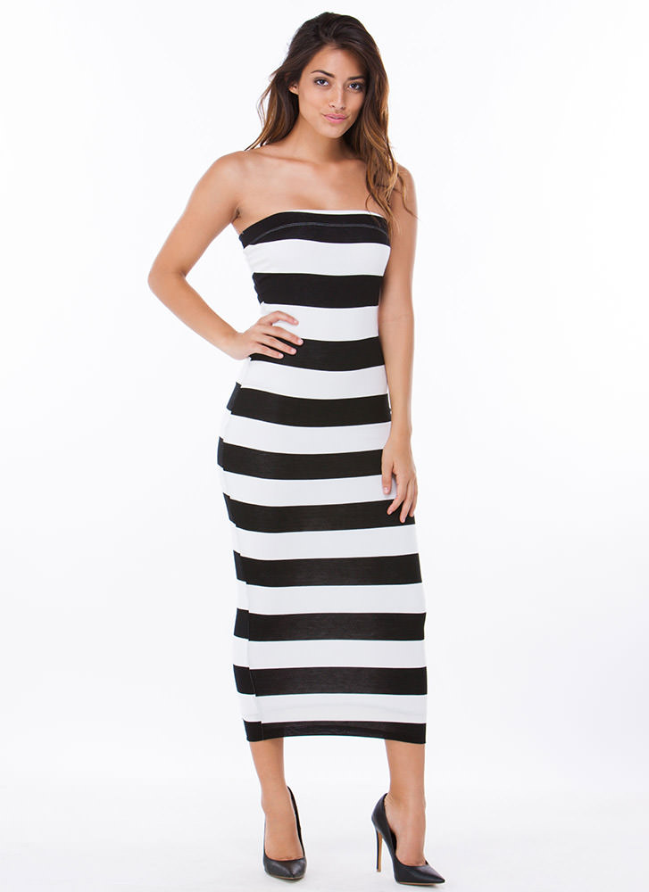 Stripe Craze Tube Dress