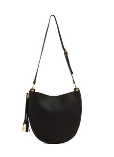 Rounded Contour Pebbled Bag