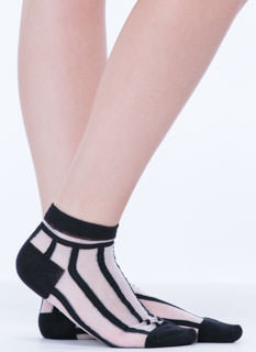 Sheer Enough Striped Ankle Socks