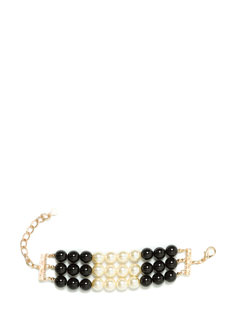 Colorblock Party Faux Pearl Bracelet