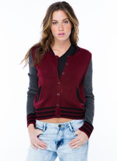 Good Sport Varsity Jacket Cardigan