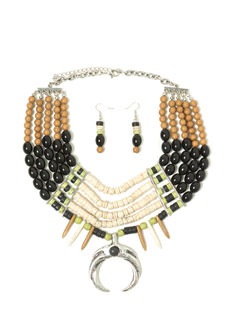 Sticks 'N Stones Beaded Necklace Set