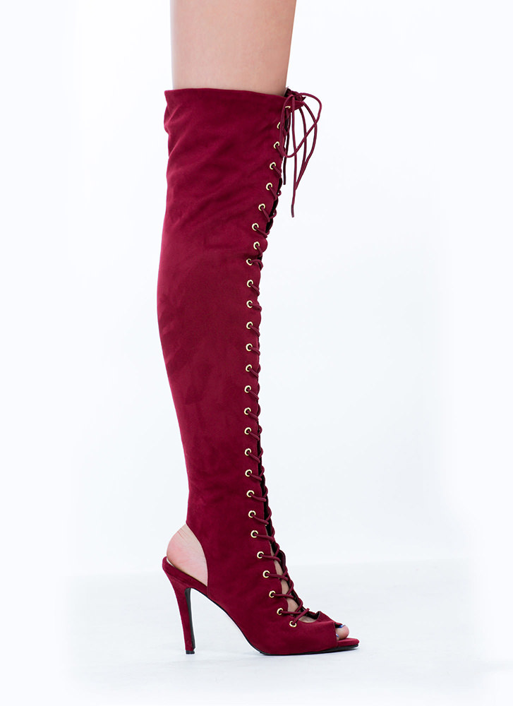 Lace-Up 4 Anything Stiletto Boots